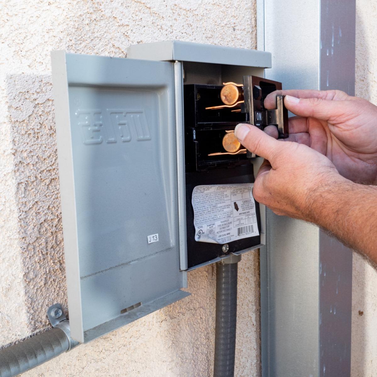 man working on wiring
